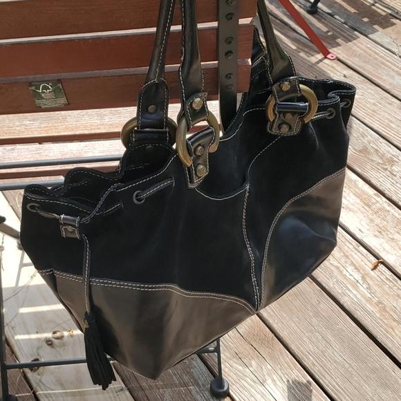 Vintage Restored Francesco Biasia Suede Bag
